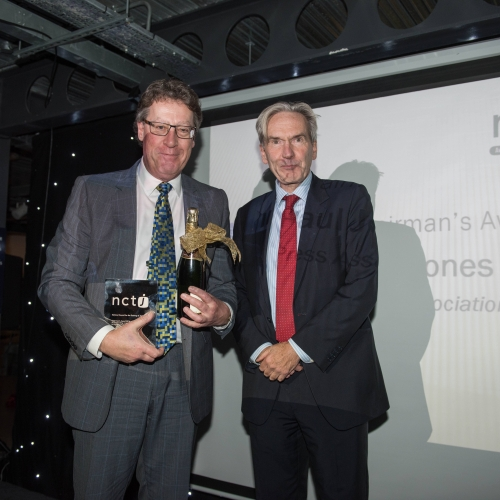 Paul Jones receives the NCTJ Chairman's award
